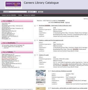 Careers Library catalogue - search results
