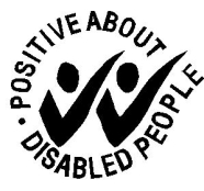 Positive about disabled people symbol