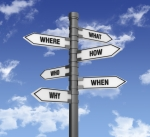 Signpost with questions
