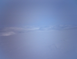 snowy mountains in wintry weather