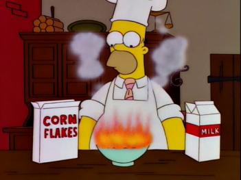 homer simpson cornflakes